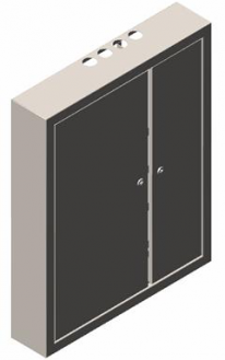 щит распределительный навесной ЩРН-093 - фото 1